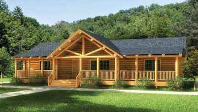40 Stunning Log Cabin Homes Plans One Story Design Ideas (14)