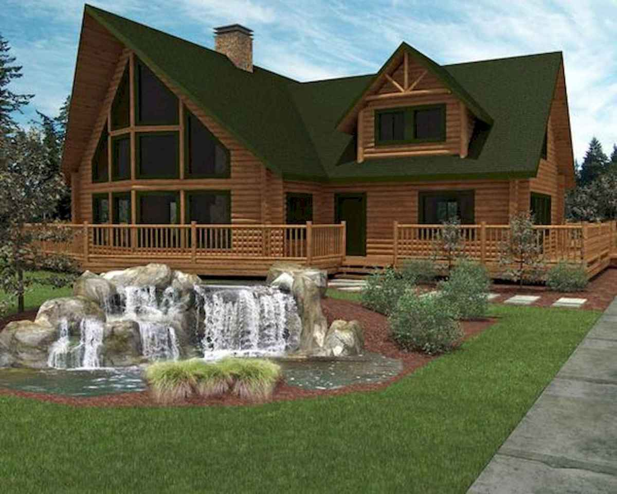 40 Stunning Log Cabin Homes Plans One Story Design Ideas (18)