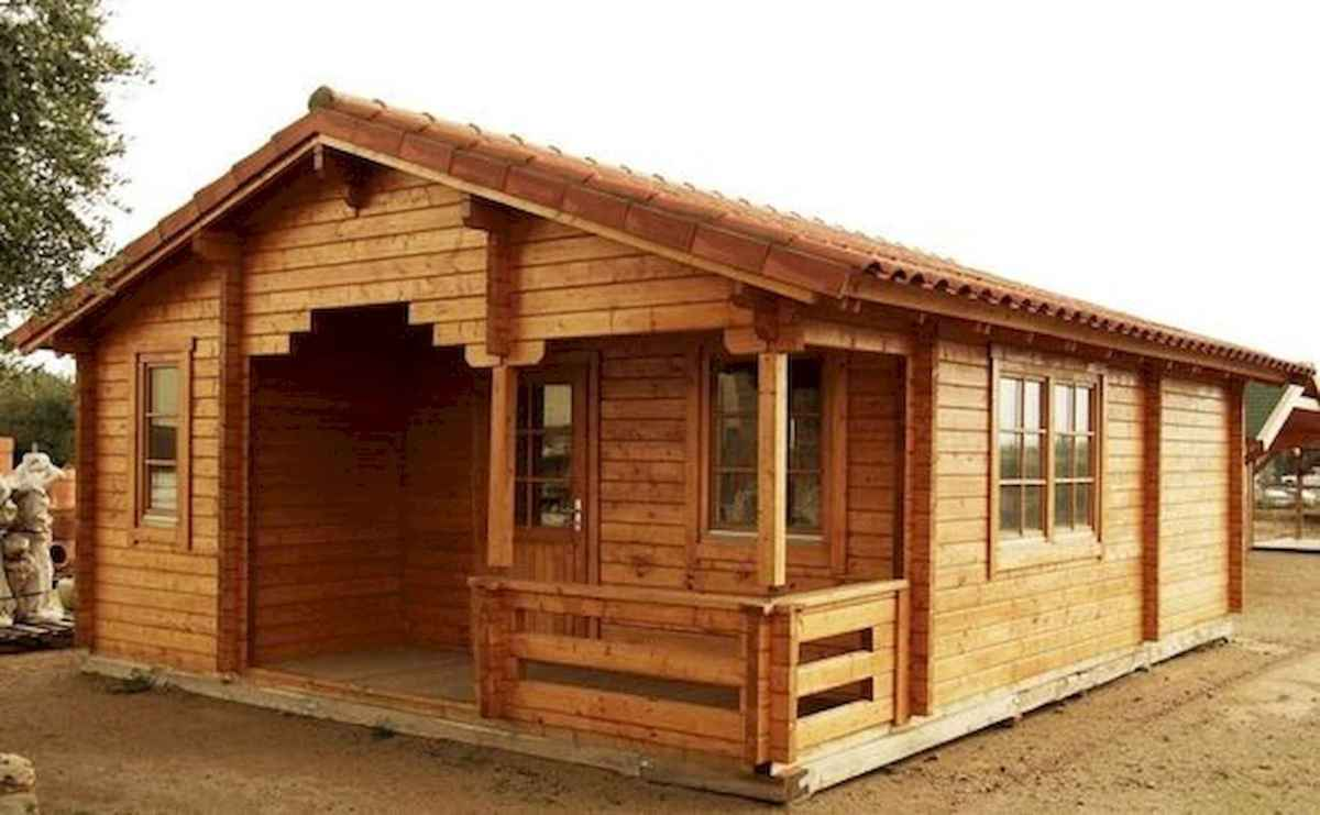 40 Stunning Log Cabin Homes Plans One Story Design Ideas (30)