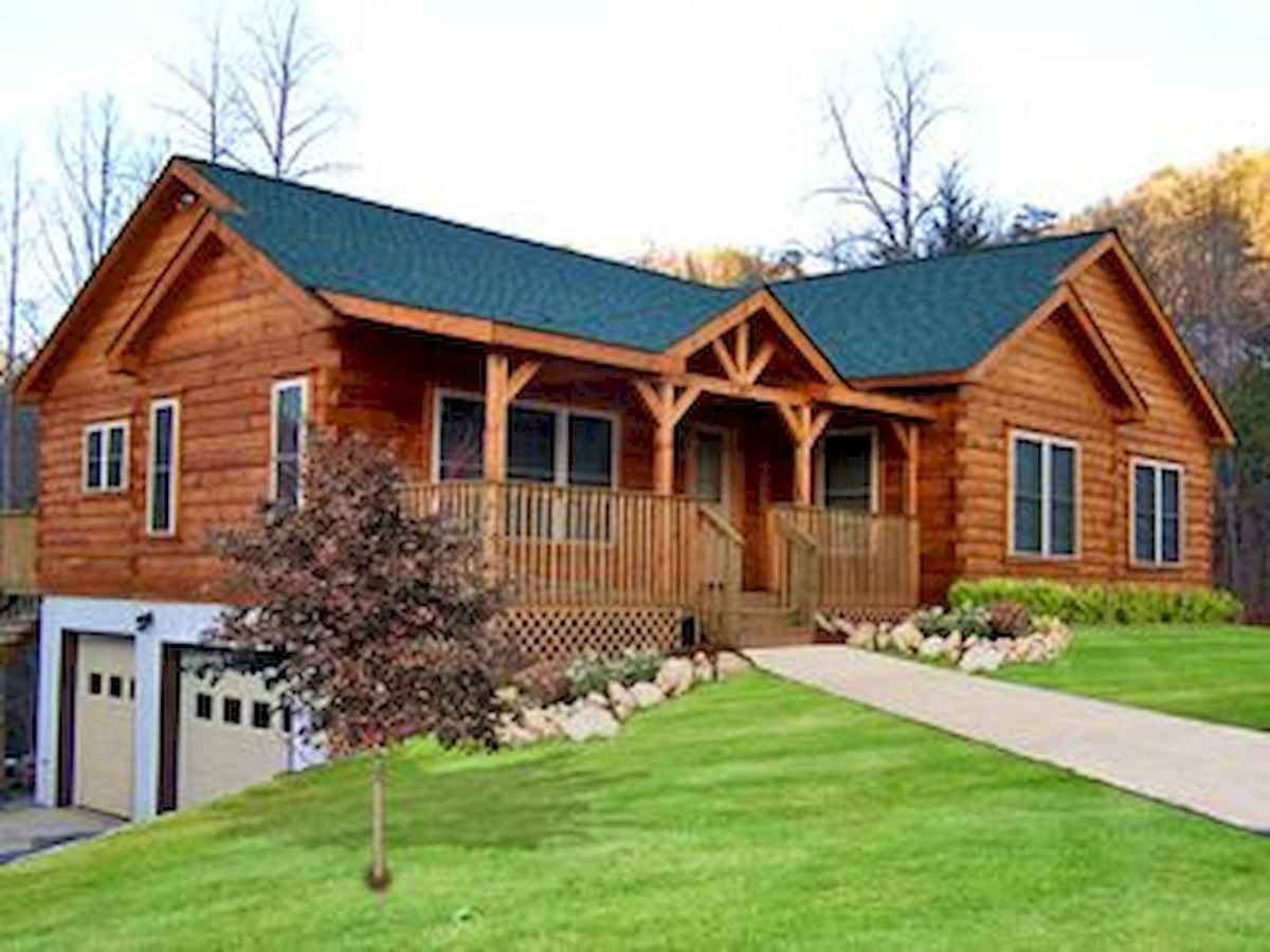 40 Stunning Log Cabin Homes Plans One Story Design Ideas (44)