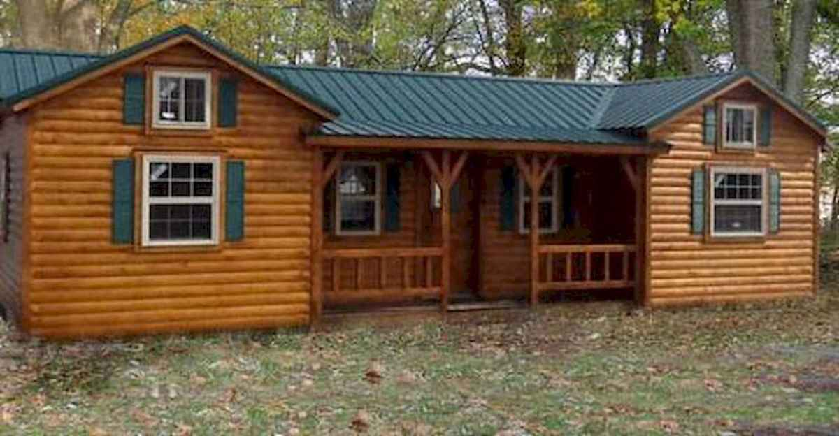 40 Stunning Log Cabin Homes Plans One Story Design Ideas (8)