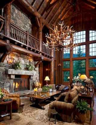 50 Incredible Log Cabin Homes Modern Design Ideas (29)