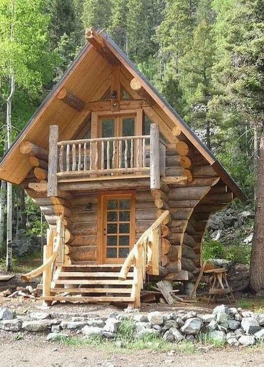 70 Suprising Small Log Cabin Homes Design Ideas (25)
