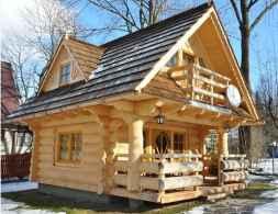 70 Suprising Small Log Cabin Homes Design Ideas (35)