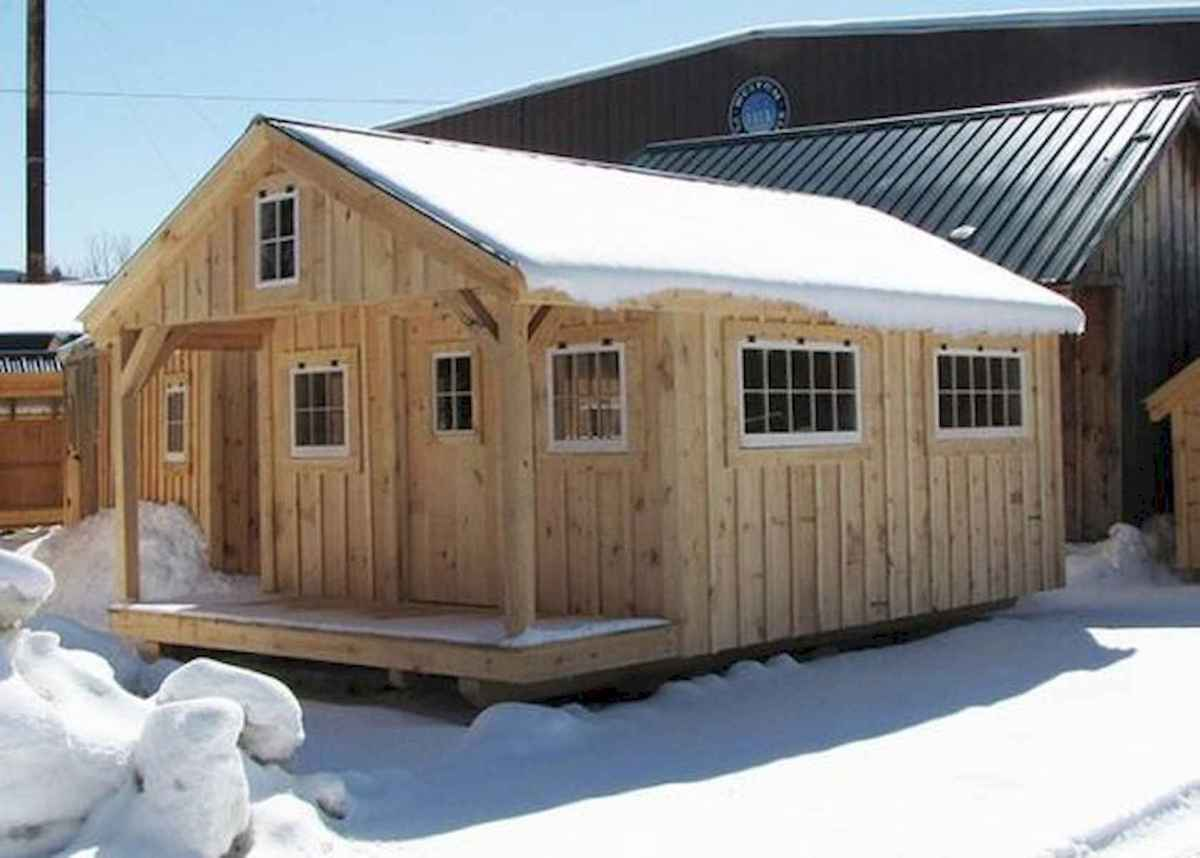 70 Suprising Small Log Cabin Homes Design Ideas (4)