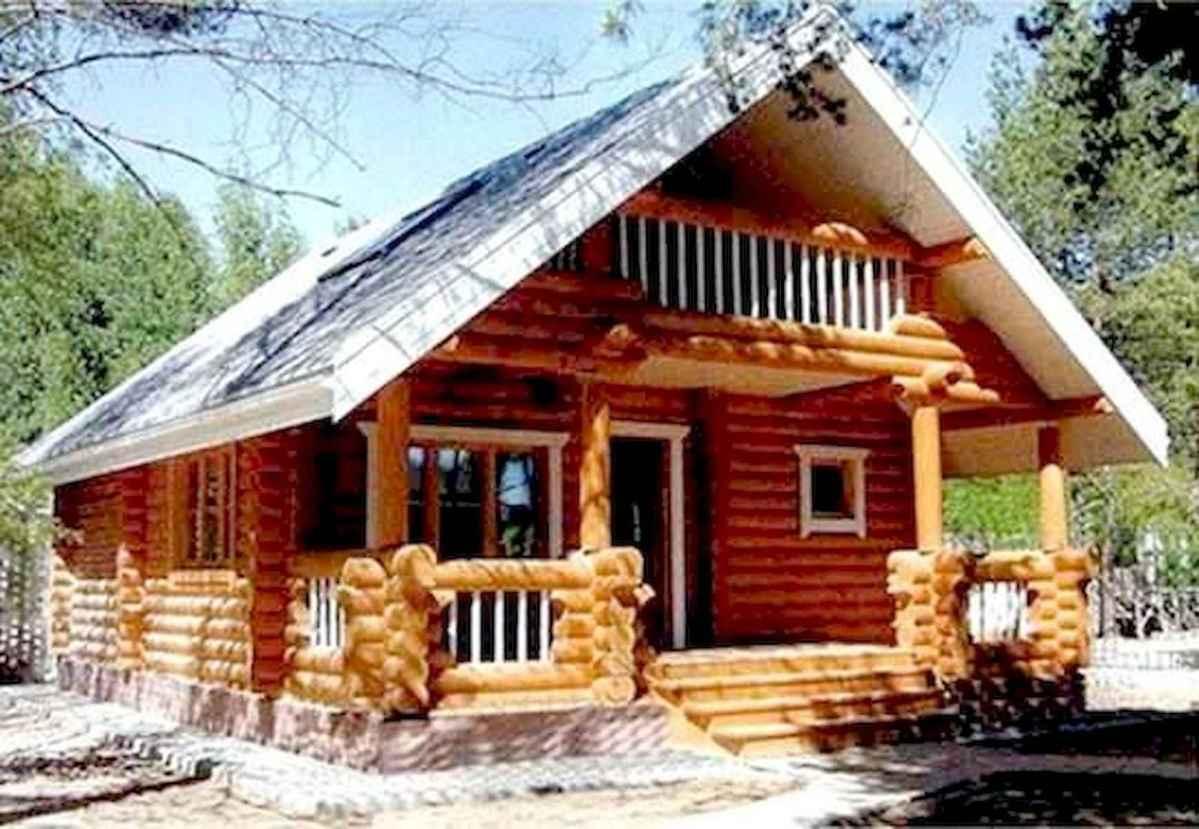 70 Suprising Small Log Cabin Homes Design Ideas (42)