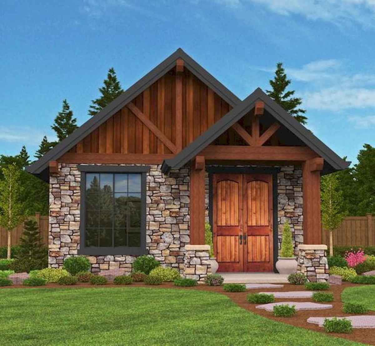 70 Suprising Small Log Cabin Homes Design Ideas (47)