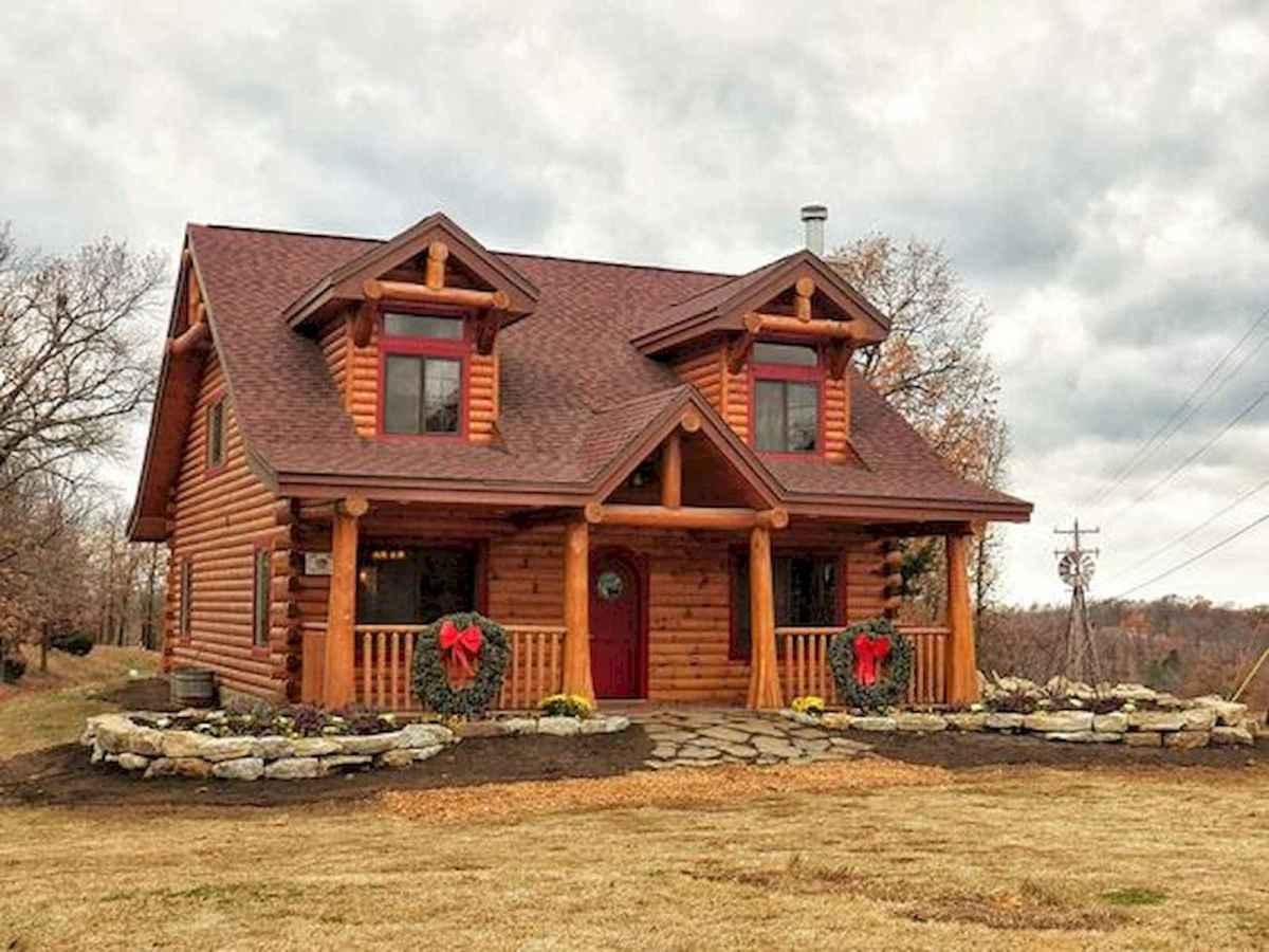 70 Suprising Small Log Cabin Homes Design Ideas (5)