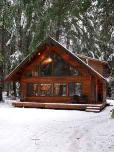 70 Suprising Small Log Cabin Homes Design Ideas (50)