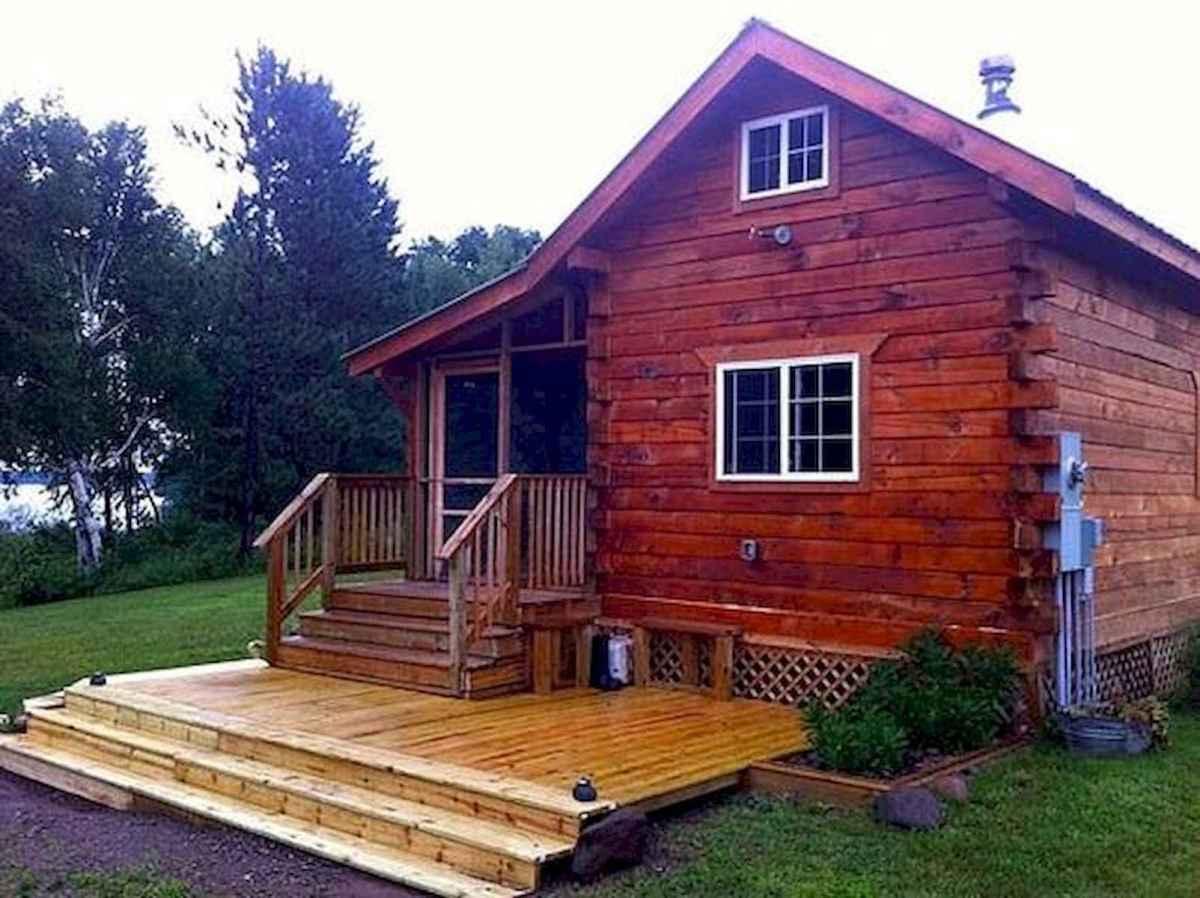 70 Suprising Small Log Cabin Homes Design Ideas (6)