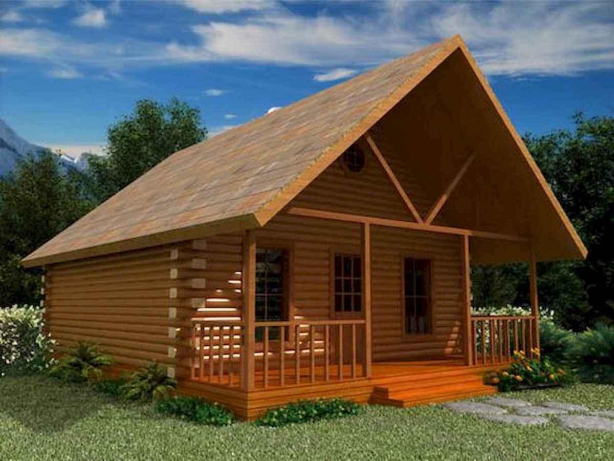 70 Suprising Small Log Cabin Homes Design Ideas (60)