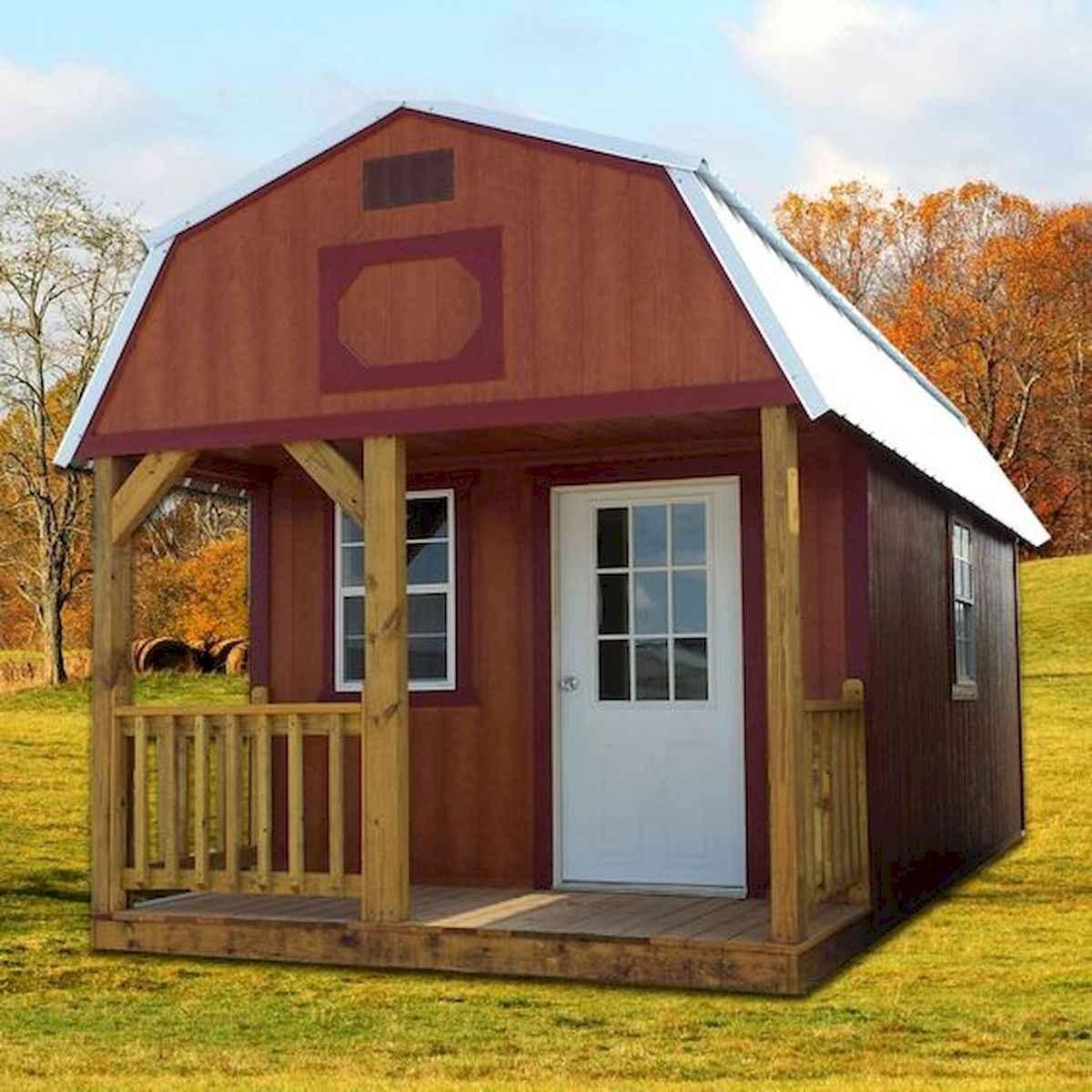 70 Suprising Small Log Cabin Homes Design Ideas (64)