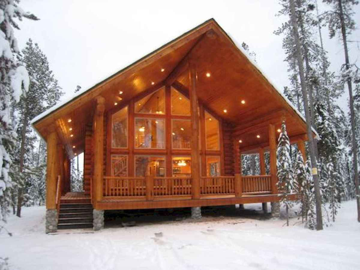 70 Suprising Small Log Cabin Homes Design Ideas (65)