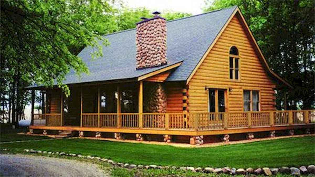 75 Great Log Cabin Homes Plans Design Ideas (34)