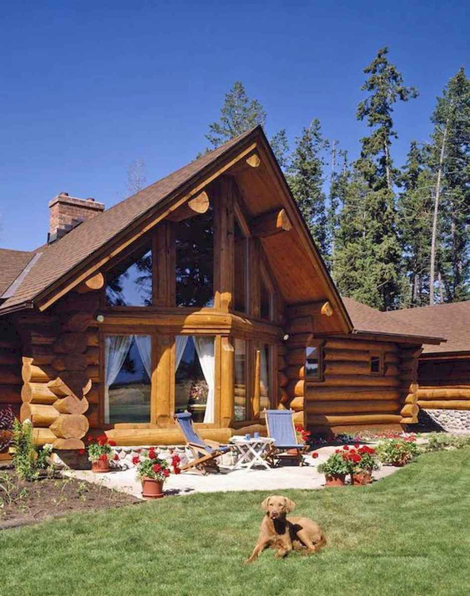 75 Great Log Cabin Homes Plans Design Ideas (48)