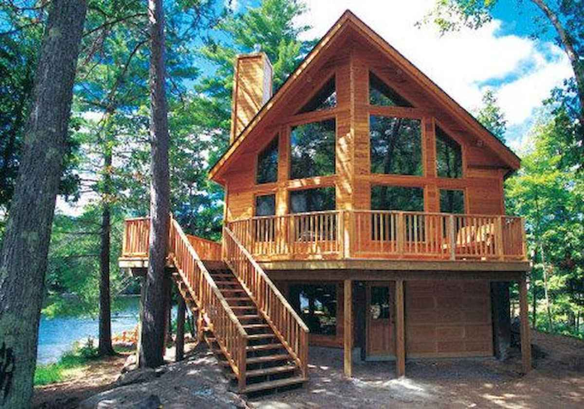 75 Great Log Cabin Homes Plans Design Ideas (67)