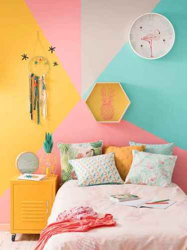 70+ Awesome Colorful Bedroom Decor Ideas And Remodel for Summer Project (15)