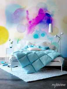 70+ Awesome Colorful Bedroom Decor Ideas And Remodel for Summer Project (9)