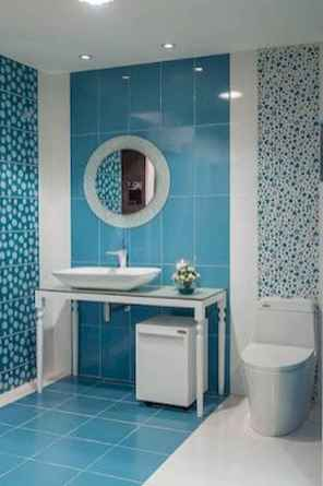70+ Fantastic Colorful Bathroom Decor Ideas And Remodel for Summer Project (19)