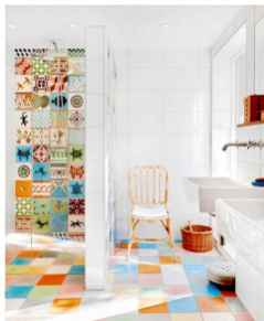 70+ Fantastic Colorful Bathroom Decor Ideas And Remodel for Summer Project (50)
