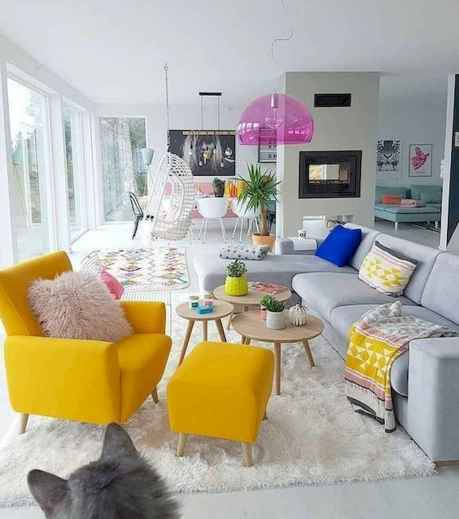 80+ Awesome Colorful Living Room Decor Ideas And Remodel for Summer Project (4)