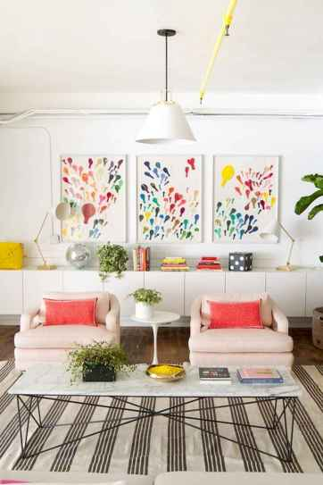 80+ Awesome Colorful Living Room Decor Ideas And Remodel for Summer Project (48)
