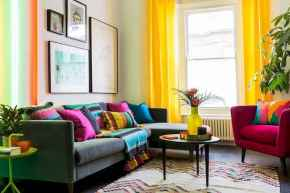 80+ Awesome Colorful Living Room Decor Ideas And Remodel for Summer Project (65)