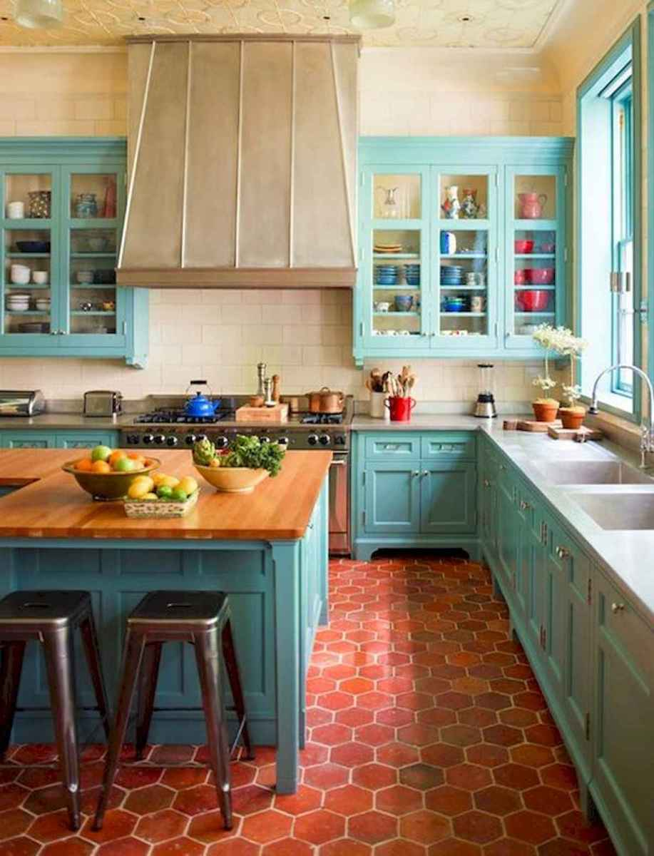 80+ Fantastic Colorful Kitchen Decor Ideas And Remodel for Summer Project (33)