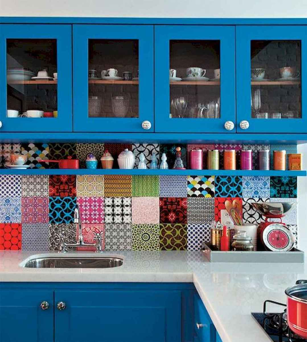 80+ Fantastic Colorful Kitchen Decor Ideas And Remodel for Summer Project (39)