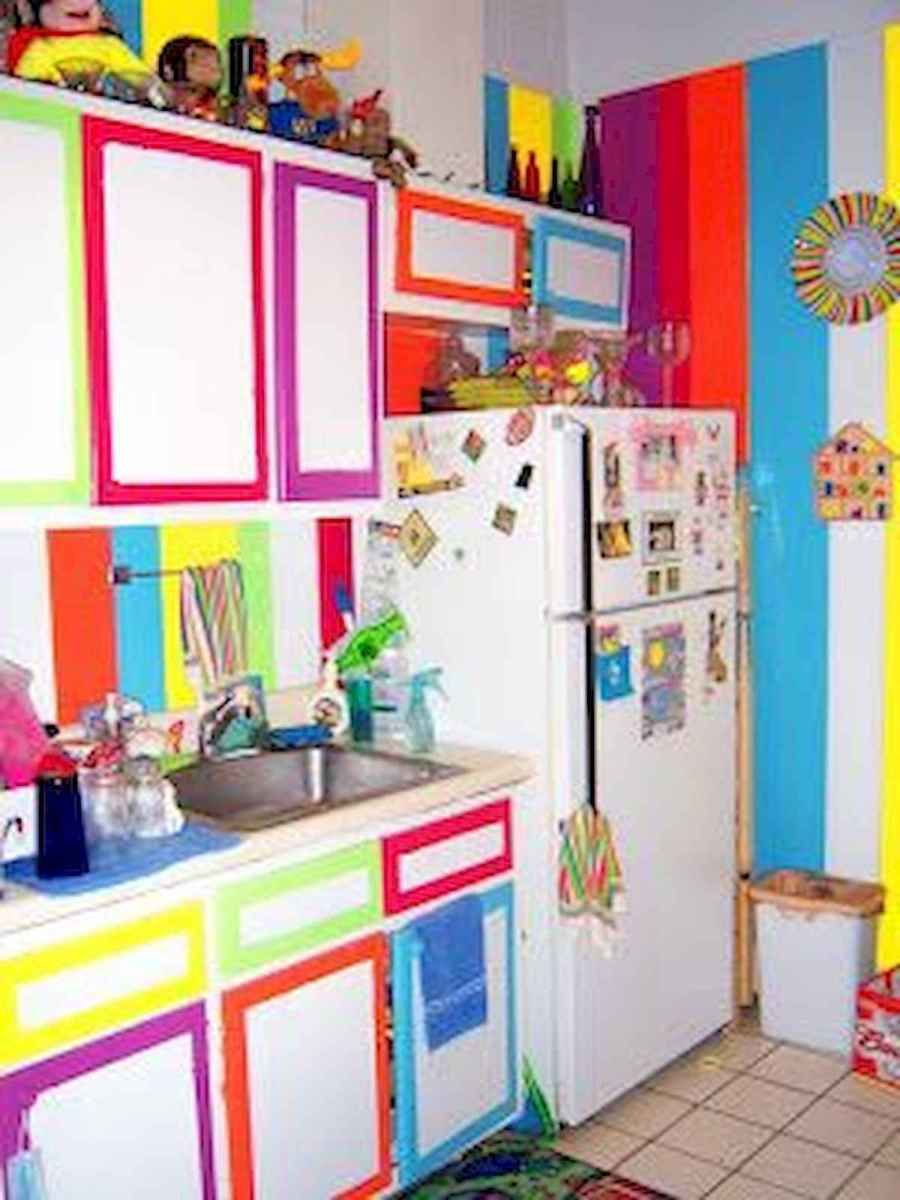 80+ Fantastic Colorful Kitchen Decor Ideas And Remodel for Summer Project (43)