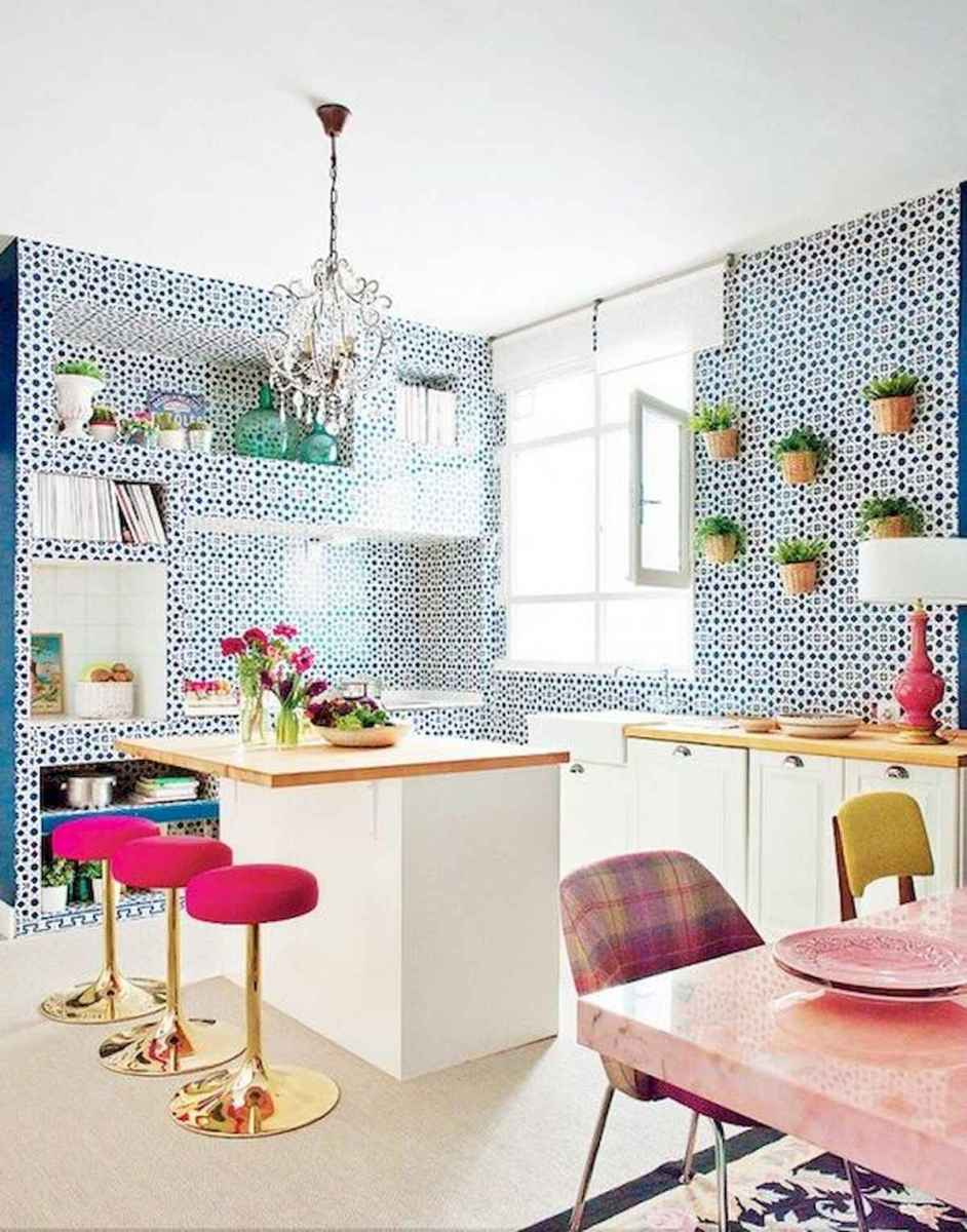 80+ Fantastic Colorful Kitchen Decor Ideas And Remodel for Summer Project (50)