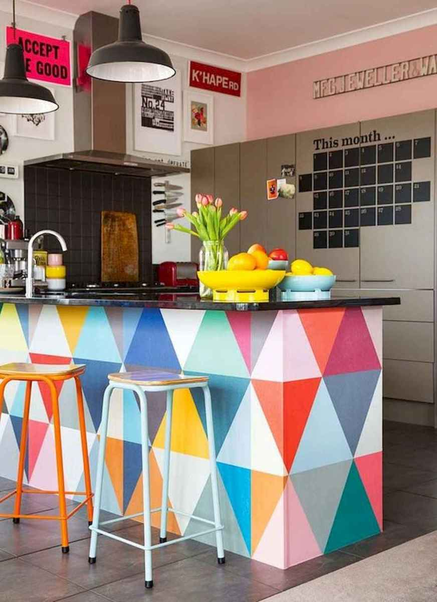 80+ Fantastic Colorful Kitchen Decor Ideas And Remodel for Summer Project (67)