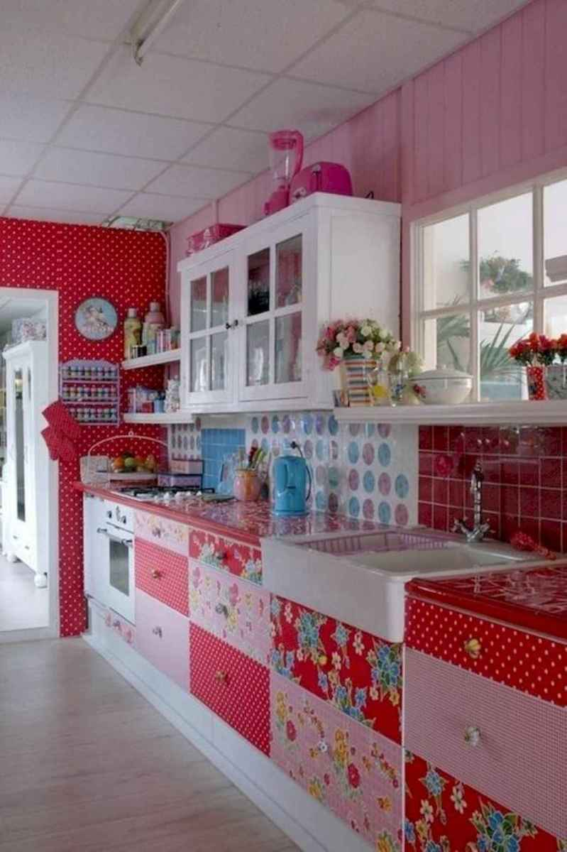 80+ Fantastic Colorful Kitchen Decor Ideas And Remodel for Summer Project (8)