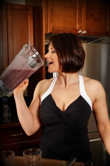 Rachel Drinking Smoothie