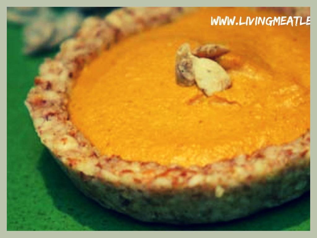 Raw Pumpkin Spice Tart
