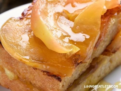 Cinnamon Pear Vegan French Toast