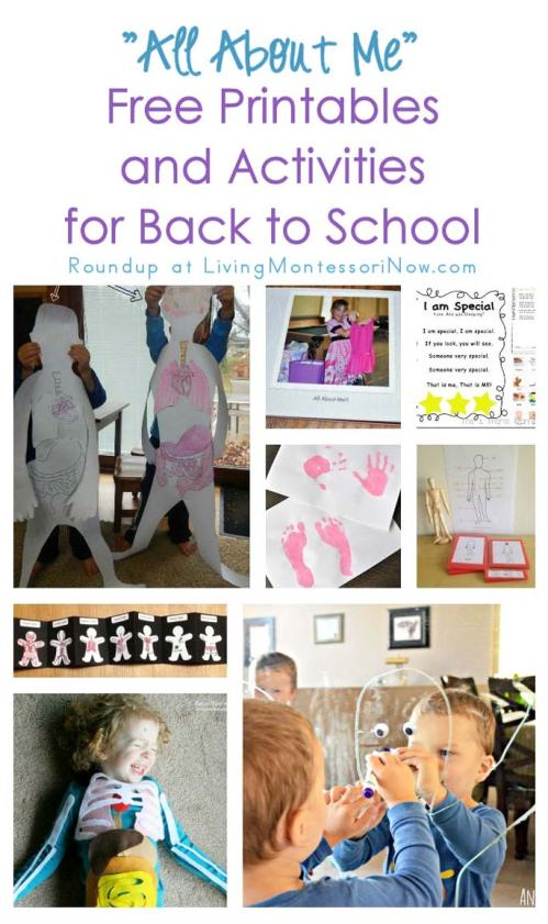 small resolution of All About Me\ Free Printables and Activities for Back to School