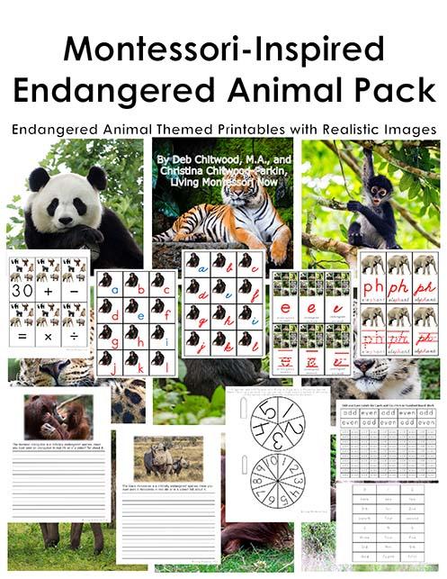 Montessori-Inspired Endangered Animal Pack