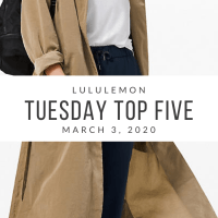 lululemon Tuesday Top 5 (3/3/20)
