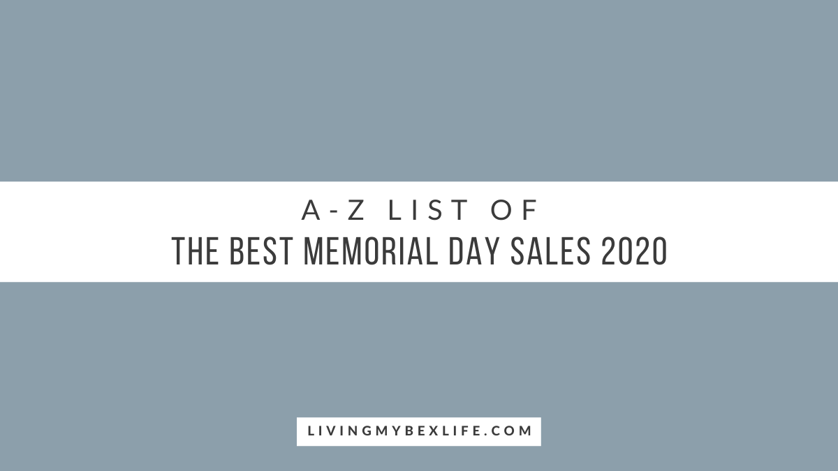 A-Z List of the Best Memorial Day Sales 2020