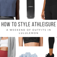 How to Style Athleisure: A Weekend of Outfits in lululemon