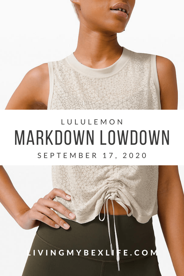lululemon Markdown Lowdown (9/17/20)