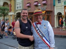 Me Shaking Hands With Mayor Of Disney