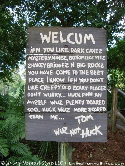 Tom Sawyer Island Sign