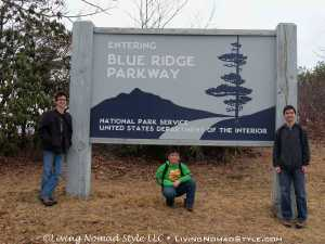 Blue Ridge Parkway Entrance Sign