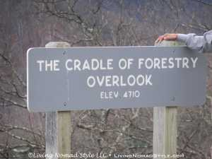 Cradle of Forestry Overlook - Sign