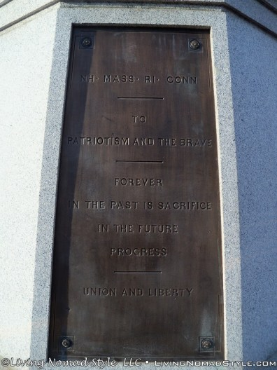 One Side Of Base Of General Morgan Memorial