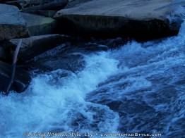 Current And Rocks At Base Of Bridal Veil Falls