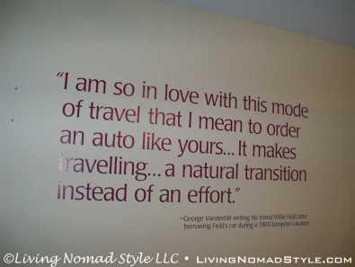 George Vanderbilt Quote On Cars
