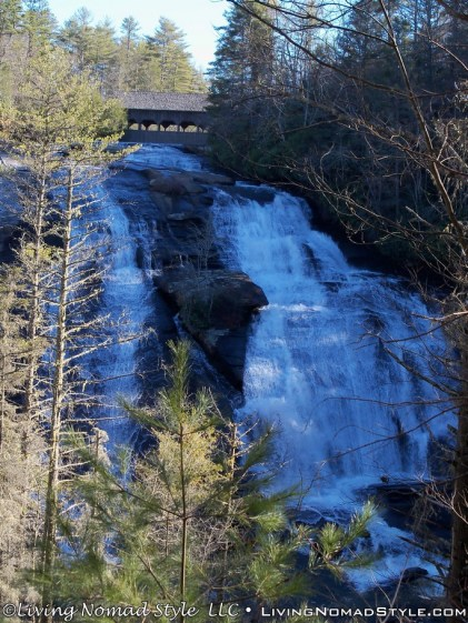 High Falls With Covered Bridge
